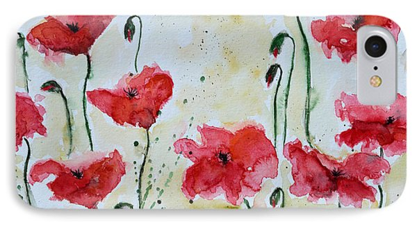 Feel The Summer 1 - Poppies Phone Case by Ismeta Gruenwald