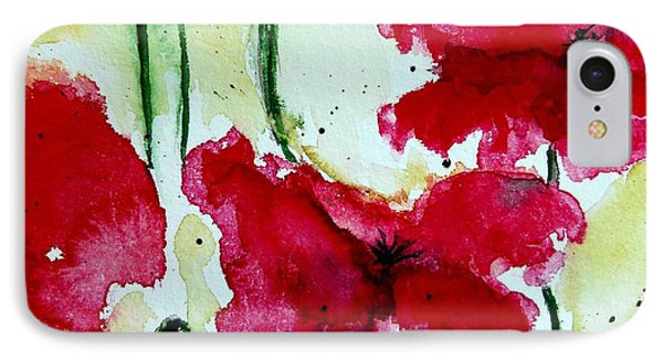 Feel The Summer 2 - Poppies IPhone Case by Ismeta Gruenwald