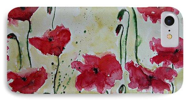 Feel The Summer - Poppies Phone Case by Ismeta Gruenwald