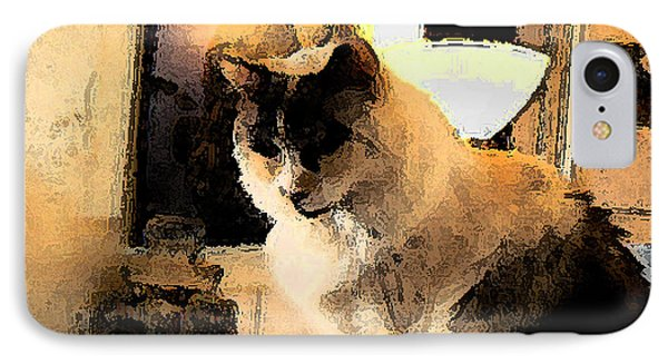 IPhone Case featuring the photograph Feline Rodin by Lin Haring