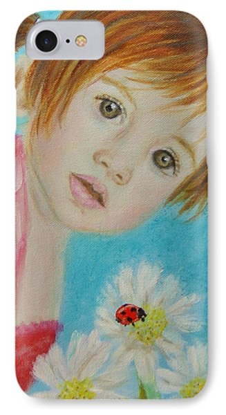 Felisa Little Angel Of Happiness And Luck Phone Case by The Art With A Heart By Charlotte Phillips