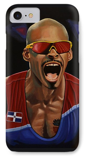 Felix Sanchez IPhone Case by Paul Meijering
