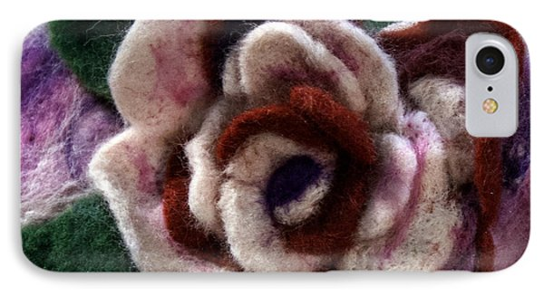 Felted Rose IPhone Case by Shelley Bain