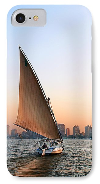Felucca On The Nile IPhone Case by Paul Cowan