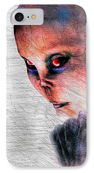 Female Alien Portrait Phone Case by Bob Orsillo