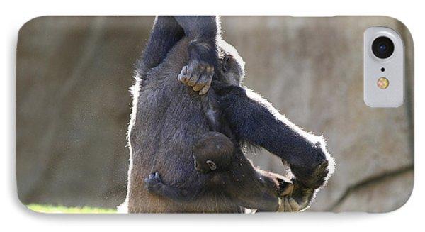 Female And Baby Gorilla IPhone Case