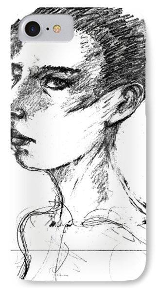 Female Head IPhone Case by Maxim Komissarchik
