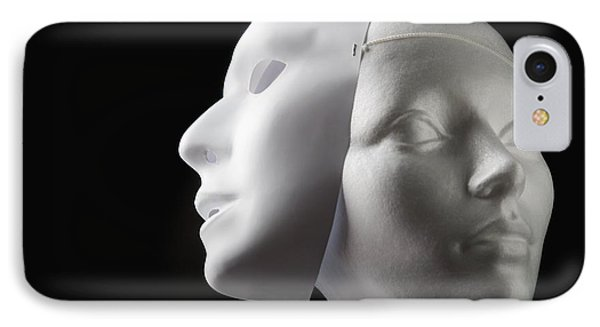 Female Mannequin And Mask Phone Case by Kelly Redinger