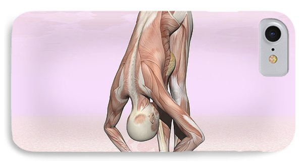 Female Musculature Performing Big Toes IPhone Case by Elena Duvernay