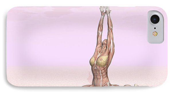 Female Musculature Performing Monkey IPhone Case by Elena Duvernay
