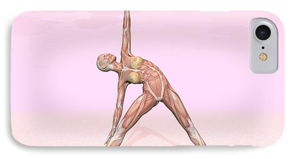 Female Musculature Performing Triangle IPhone Case by Elena Duvernay