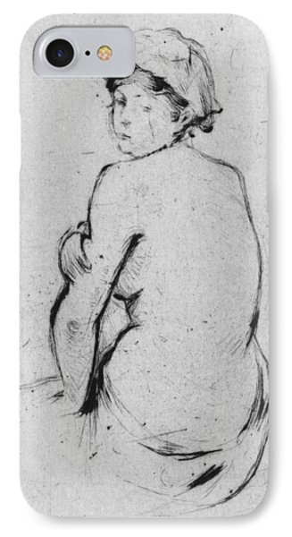 Female Nude Seen From Behind IPhone Case by Berthe Morisot