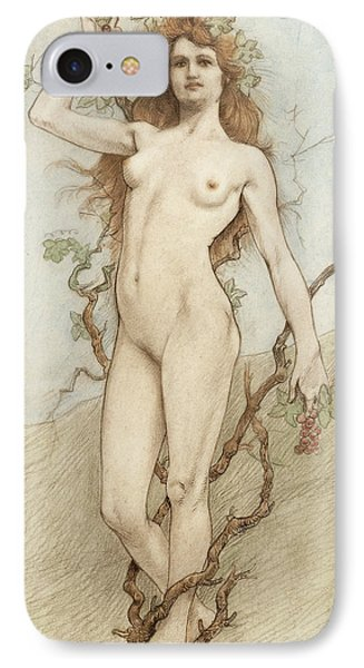 Female Nude With Grapes IPhone Case