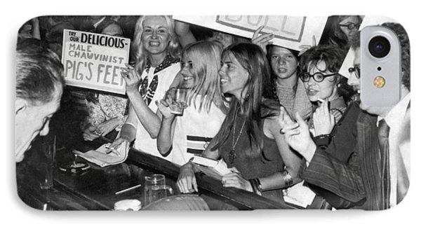 Feminists Protest  Brown's Bar IPhone Case by Underwood Archives