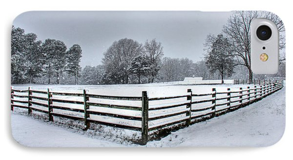 Fence In Snow IPhone Case by Andy Lawless