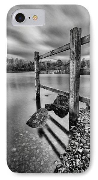 Fence In The Loch  Phone Case by John Farnan