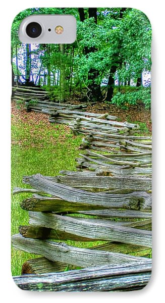 Fence Line IPhone Case by Dan Stone