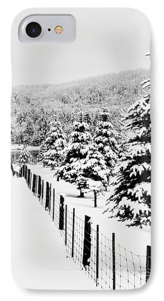 Fence Line Phone Case by Tim Wilson