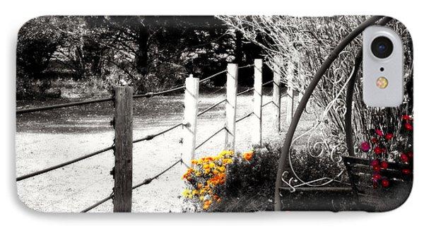 Fence Near The Garden IPhone Case by Julie Hamilton