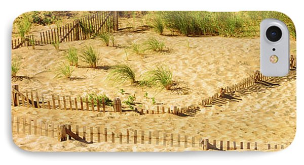 Fence On The Beach, Cape Cod IPhone Case
