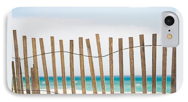 Fence On The Beach IPhone Case by Shelby  Young