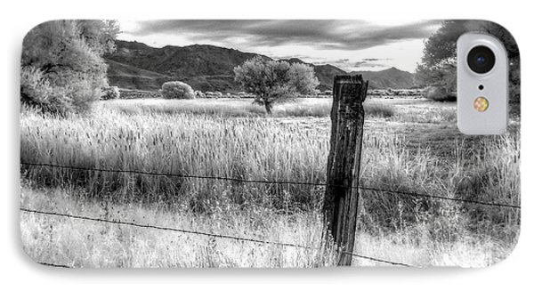 Fence Post In The Meadow IPhone Case
