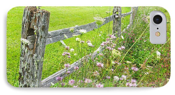 Fence Post IPhone Case by Melinda Fawver