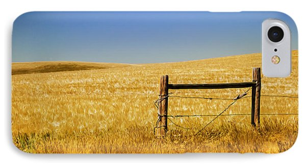 Fence Post Near Choteau Montana Painted IPhone Case