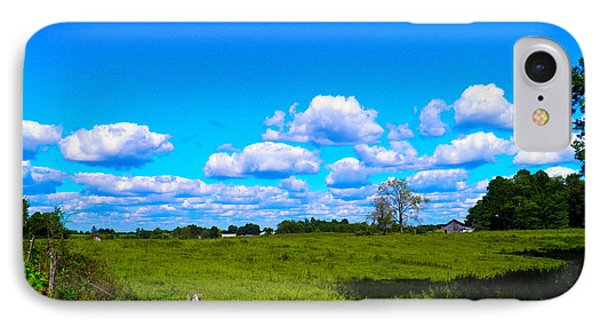 Fence Row And Clouds IPhone Case by Nick Kirby
