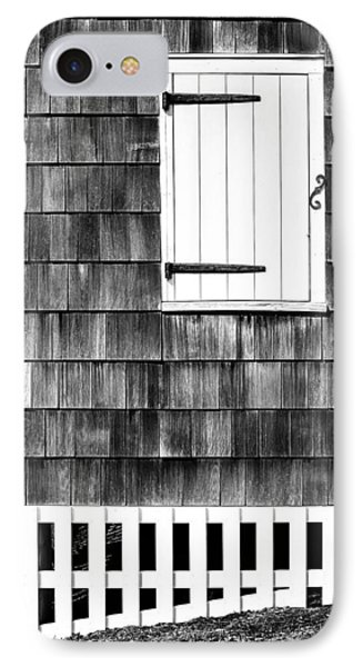 Fence Shutter And Weathered Wall IPhone Case