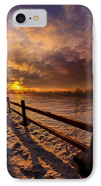 Fence Walking IPhone Case by Phil Koch