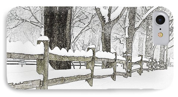 Fenced In Forest Phone Case by John Stephens