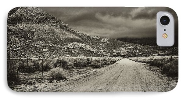 IPhone Case featuring the photograph Fenceline And Dirt Road by Hugh Smith
