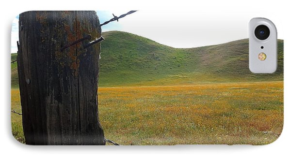 Fencepost On The 58 IPhone Case by Paul Foutz