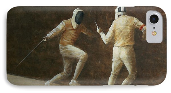 Fencing IPhone Case by Lincoln Seligman