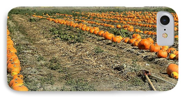 IPhone Case featuring the photograph Fencing The Pumpkin Patch by Michael Gordon