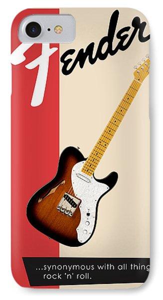 Guitar iPhone 7 Case - Fender All Things Rock N Roll by Mark Rogan