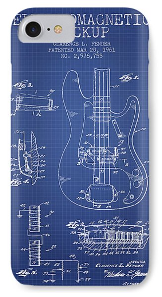 Fender Guitar Patent From 1961 - Blueprint IPhone Case by Aged Pixel