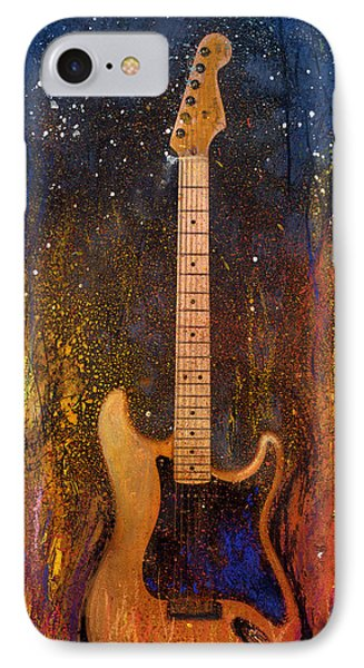 Fender On Fire IPhone Case by Andrew King