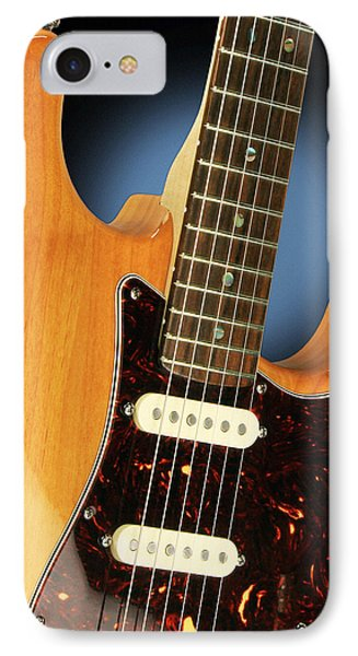 Fender Stratocaster Electric Guitar Natural IPhone Case by John Cardamone