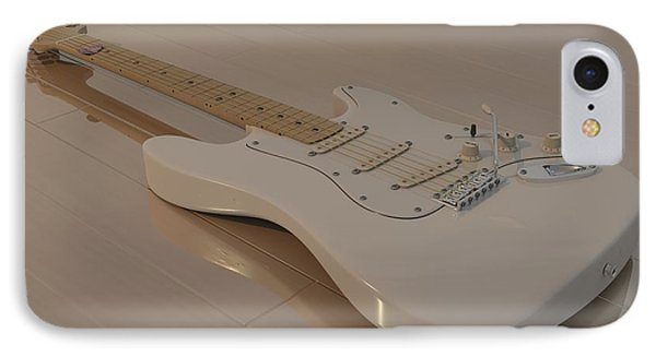 Fender Stratocaster In White Phone Case by James Barnes