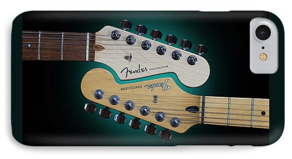 Fender Stratocaster Mating Headstocks IPhone Case by John Cardamone