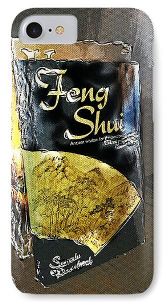 IPhone Case featuring the painting Feng Shui Abstract - Small by Nik Helbig