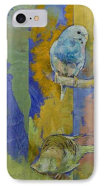 Parakeet iPhone 7 Case - Feng Shui Parakeets by Michael Creese