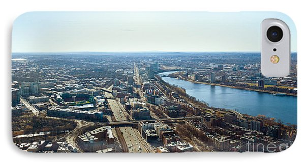 Fenway From The Top Of The Hub IPhone Case by Michelle Wiarda