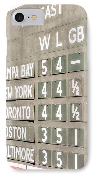 Fenway Park Al East Scoreboard Standings IPhone Case