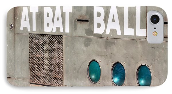 Fenway Park At Bat - Ball Scoreboard IPhone Case by Susan Candelario