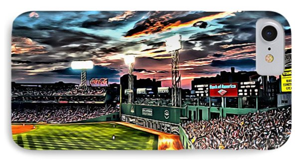 Fenway Park At Sunset IPhone Case by Florian Rodarte