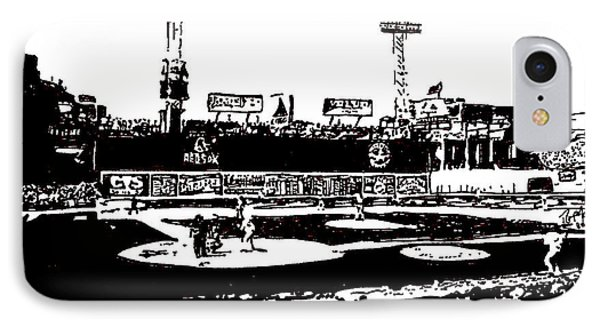 Fenway Park Drawing IPhone Case by Rob Monte