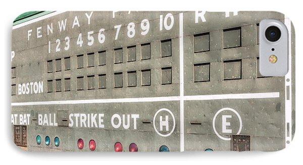 Fenway Park Scoreboard IPhone Case